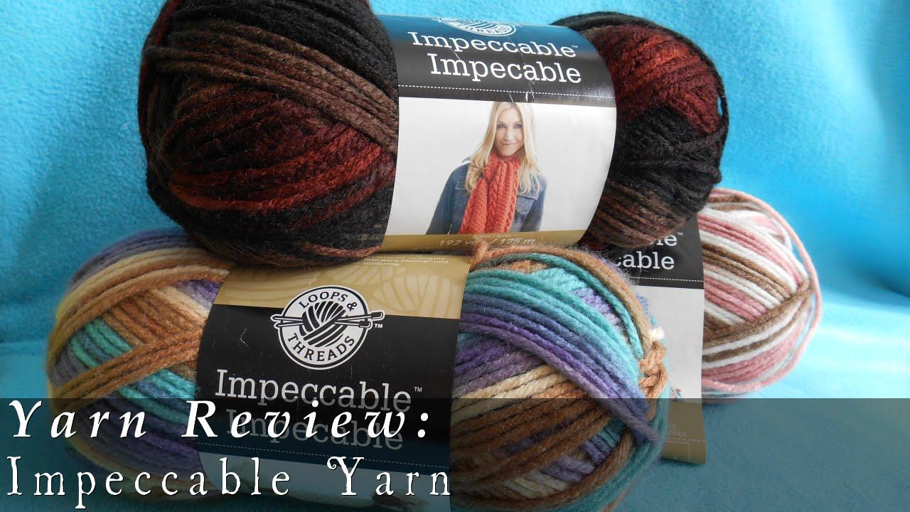 Loops & Thread Impeccable Yarn - YouTube