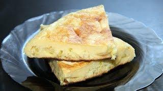 Луковый пирог на сковороде. Простой рецепт