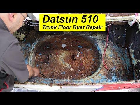 Datsun 510 Rusty Trunk Floor Repair