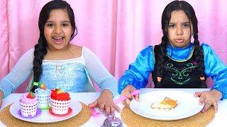 السا و آنا يلعبوا لعبة المطعم !!  el...
