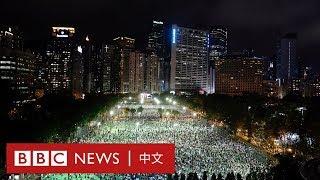 六四31週年:香港遍地燭光 維園晚會有人喊「港獨」口號- BBC News 中文