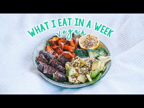 WHAT I EAT IN A WEEK as a VEGAN! 😄🌻🍌🍩 Simple & Delicious!