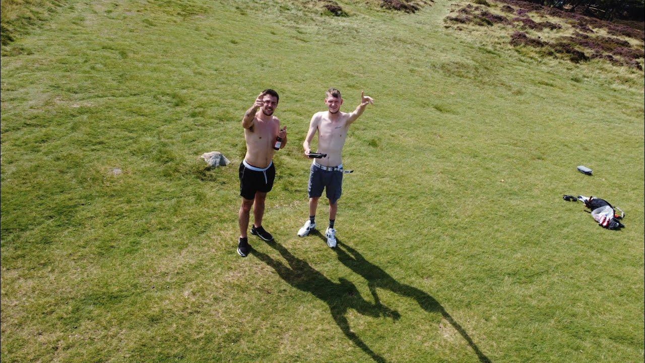 Cow & Calf Rock, Ilkley with Jack Jones. DJI Mavic Mini plus Bonus Goal clip.