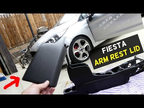FORD FIESTA ARM REST LID COVER REMOVAL REPLACEMENT ST S SE MK7