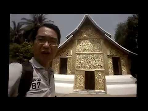 Laos tour guide at Luang Prabang ไกด์เคน พาเที่ยวหลวงพระบาง วัดเชียงทอง