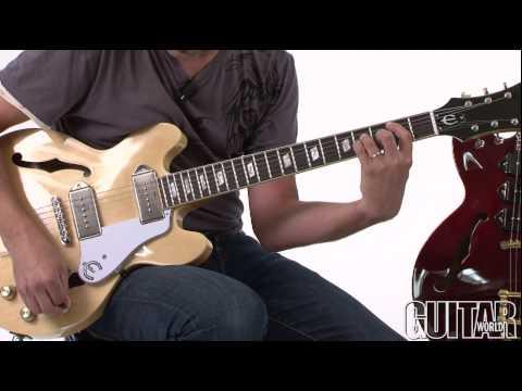 Epiphone Casino Coupe and Riviera Custom P-93 Guitars