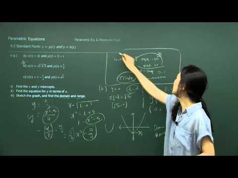 [SAT Subject Test Math Level 2] Parametric Equations