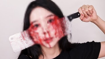 (ENG) 13일의 금요일 얼굴에 칼 박힘... 영화 특수분장 하는법 Friday the 13th Halloween makeup  | PURE.D 퓨어디