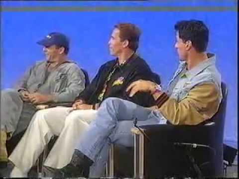 Sylvester Stallone, Arnold Schwarzenegger and Bruce Willis  1993