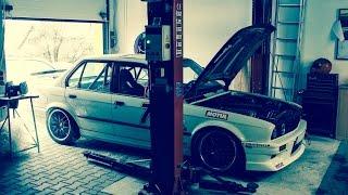 BMW E30 325 M50B25 TURBO - TEST DRIVE - HILL CLIMB RACE CAR