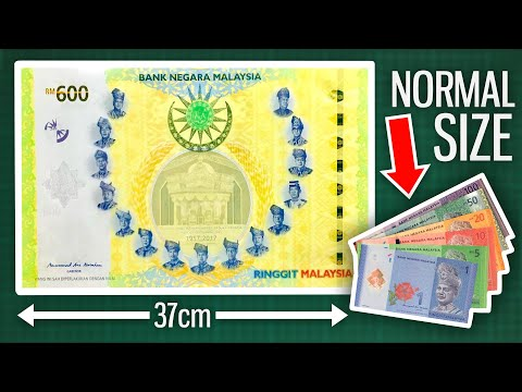 The World's LARGEST Banknote - Malaysian Ringgit