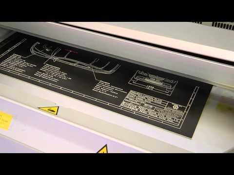 Black Art Graphics blueprint being laser etched