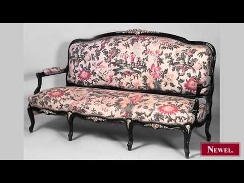 Antique French Victorian ebonized 5 piece salon set with