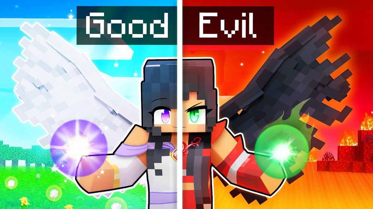 Download Aphmau is Half GOOD Half EVIL in Minecraft!