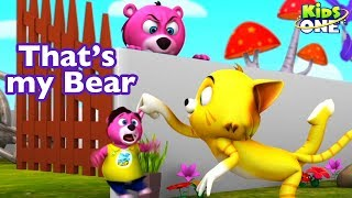 That's My Baby Bear | Funny Video of BEAR and CAT Vs RAT in Real Life FUN For Children - KidsOne
