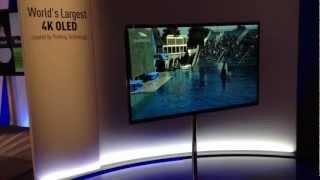 CES 2013- Panasonic World's Largest OLED 4K TV