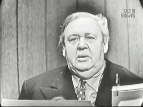 What's My Line? - Charles Laughton; Burgess Meredith [panel] (Nov 25, 1956)