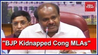 CM Kumaraswamy Accuses BJP Of Kidnapping Karnataka Congress MLAs | Press Conference