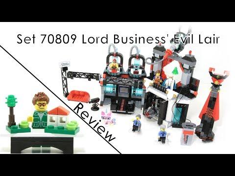 70809 Lord Business' Evil Lair - LEGO Movie Review (German/Deutsch)