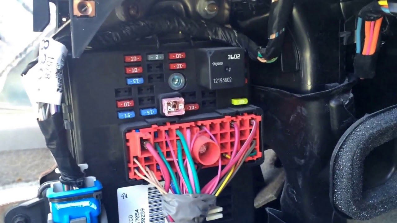 Chevy Cobalt 2004 2010 Fuse Box Location YouTube