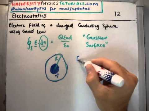 Electrostatics 12 : Electric Field of a Conducting Sphere