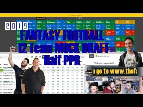 2019 NFL Fantasy Football 12 Team 1/2 PPR Mock Draft On Sleeperbot  Episode 073 Picks 3 And 7