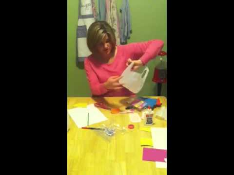How to milk jug easter baskets youtube how to milk jug easter baskets negle Image collections