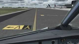 FSX [HD] - Cockpit and Wing Views - Taxi and Takeoff Milano Malpensa Airport, Italy