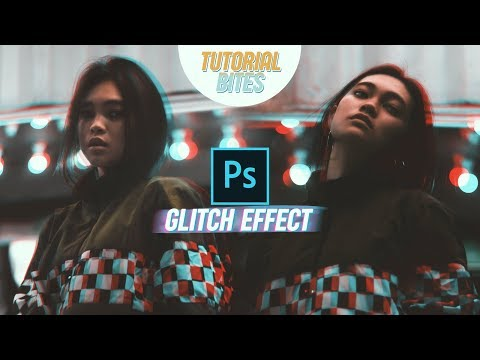 HOW TO ADD GLITCH EFFECT ON PORTRAITS WITH PHOTOSHOP? | Tutorial Bites