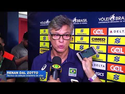 Brasil vence Holanda em amistoso de vôlei em Manaus