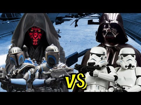 Darth Maul And Death Watch Vs Darth Vader And Stormtroopers