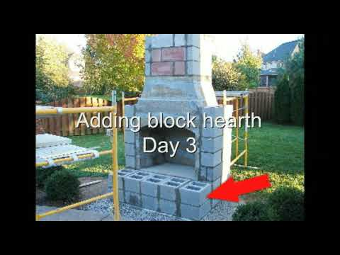 Firerock Fireplace Installation   Outdoor Fireplace   YouTube