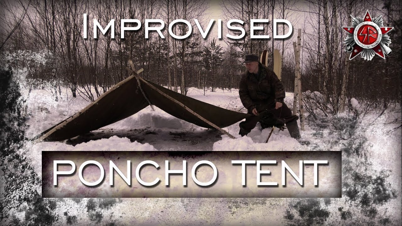 Making A Canvas Tent From Two Poncho's - YouTube