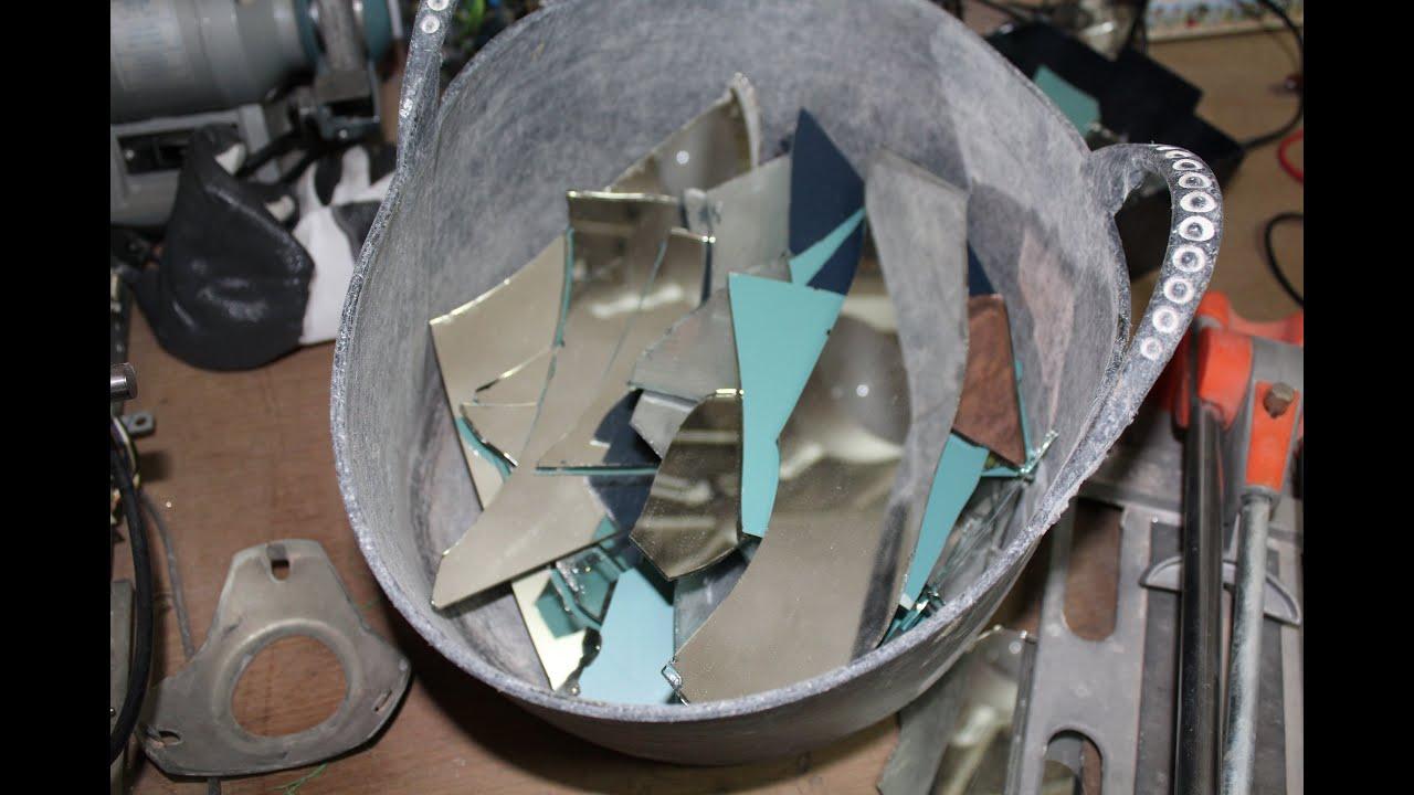 Como cortar y pegar espejos en antena parab lica para for Espejo para pegar en puerta