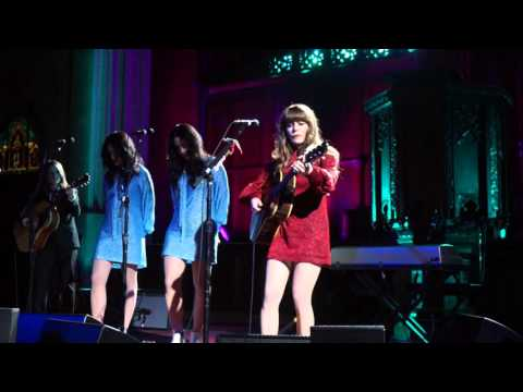 Jenny Lewis w/ the Watson Twins at The Cathedral Sanctuary at Immanuel Presbyterian on 1/28/16