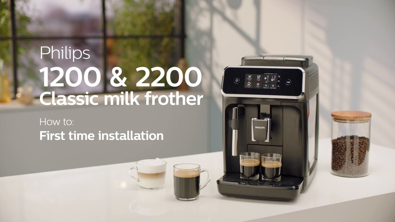 Philips Series 1200 2200 Automatic Coffee Machines How To Install And Use
