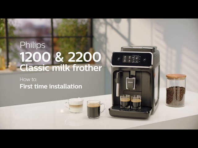 Philips Series 1200 2200 Automatic Coffee Machines How To Install And Use Youtube