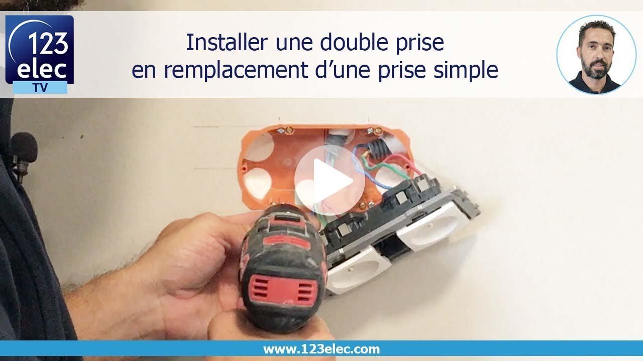 Diametre Scie Cloche Prise De Courant comment installer une prise double en remplacement d'une