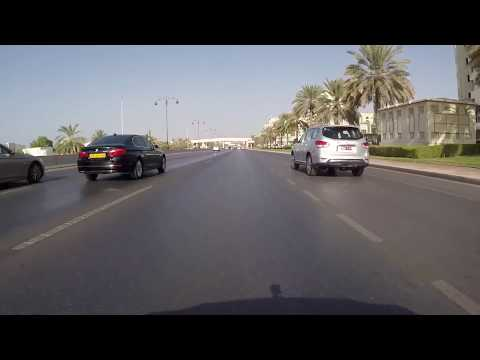 Muscat, Oman - Drive from Avenues Mall to Quntab Beach- HD Q