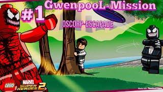 Lego Marvel SuperHeroes 2 Gwenpool Mission-1 Oscorp Escapade