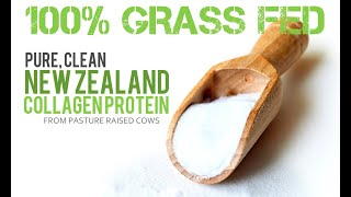 100% Pure Hydrolyzed Collagen Protein from Grass Fed, Pasture Raised Cows