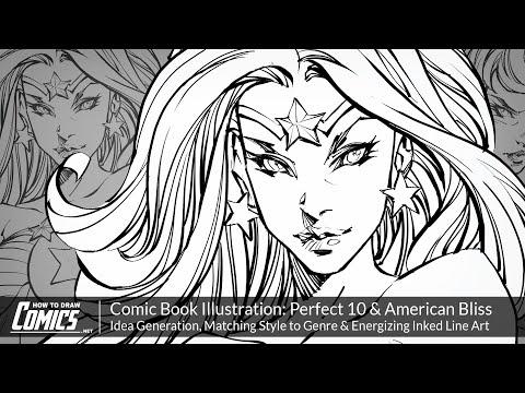 Comic Book Illustration: Idea Generation, Matching Style to Genre & Energizing Inked Line Art