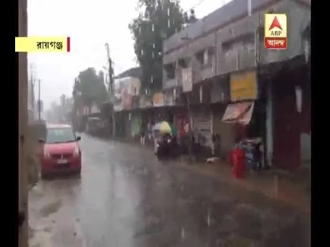 Watch in Video: Heavy rain in Raiganj
