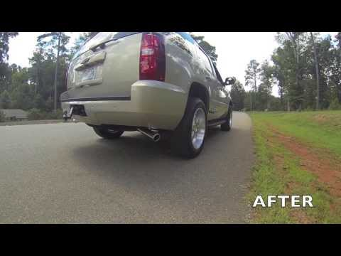 Chevrolet Tahoe Flowmaster Dual Exhaust Part 17430 Youtube