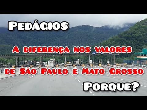 A diferença entre os valores do pedágio de São Paulo e Mato Grosso venha comigo nesse bate-papo
