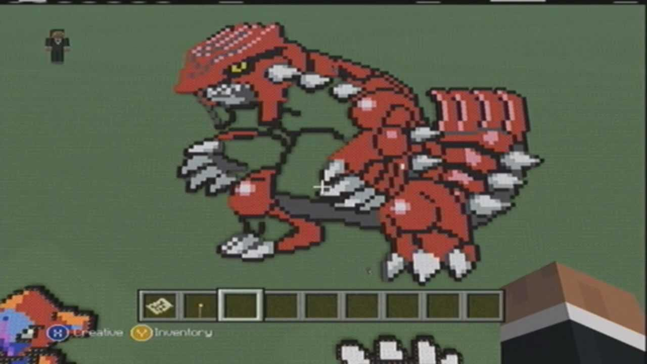 Minecraft Pixel Art Groudon Youtube