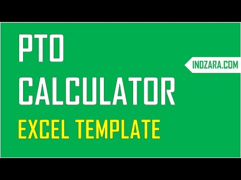 PTO Calculator Excel Template - Employee PTO Tracker & Vacation Tracker