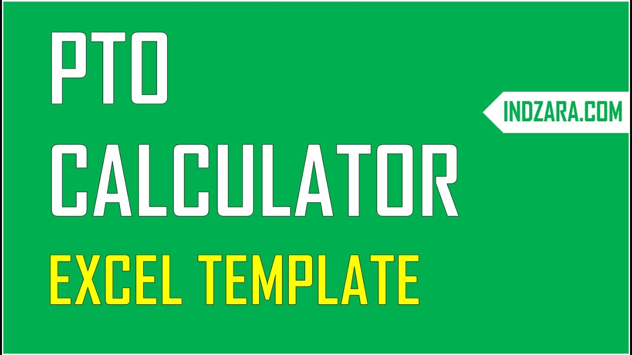 PTO Calculator Excel Template