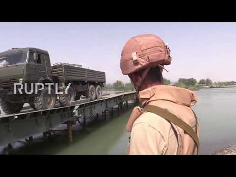 Syria: Russian military builds bridge over Euphrates ahead of fresh offensive