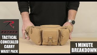 Tactical Concealed Carry Waist Pack Product Breakdown from Rothco